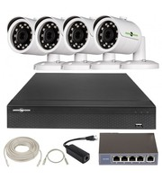 IP Комплект Відеоспостереження GV-ІР-К-L22/04 1080 P